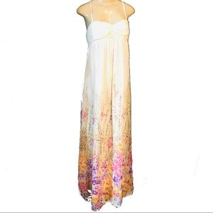 Forever 21 long maxi high waisted floral dress M